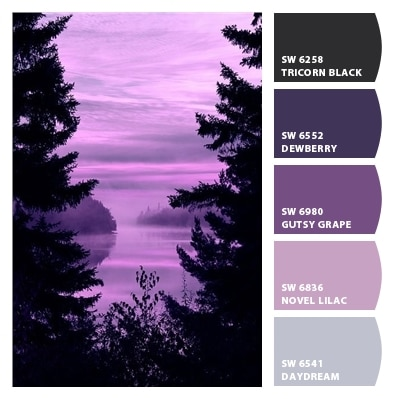Refresh your home with paint! Pantone Color of the Year 2018 Ultra Violet paint color ideas you'll love! Paint color palette ideas for an accent wall and painted furniture.