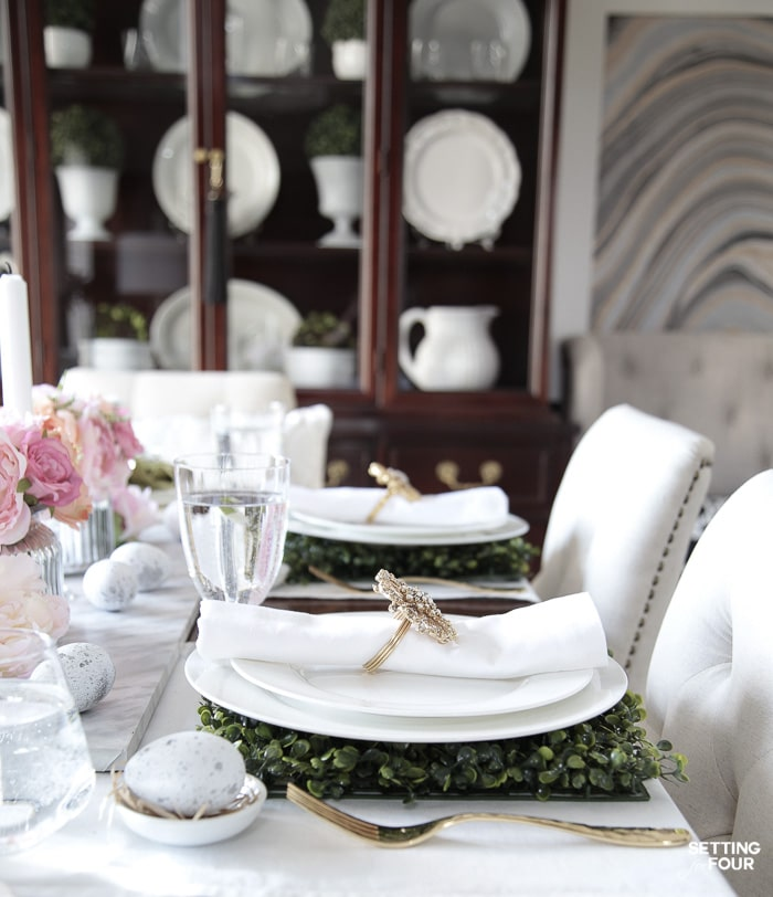 Interior decor ideas for a gorgeous Easter table.