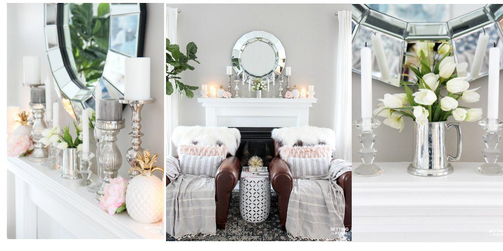 Easy Spring Mantel Decor Ideas