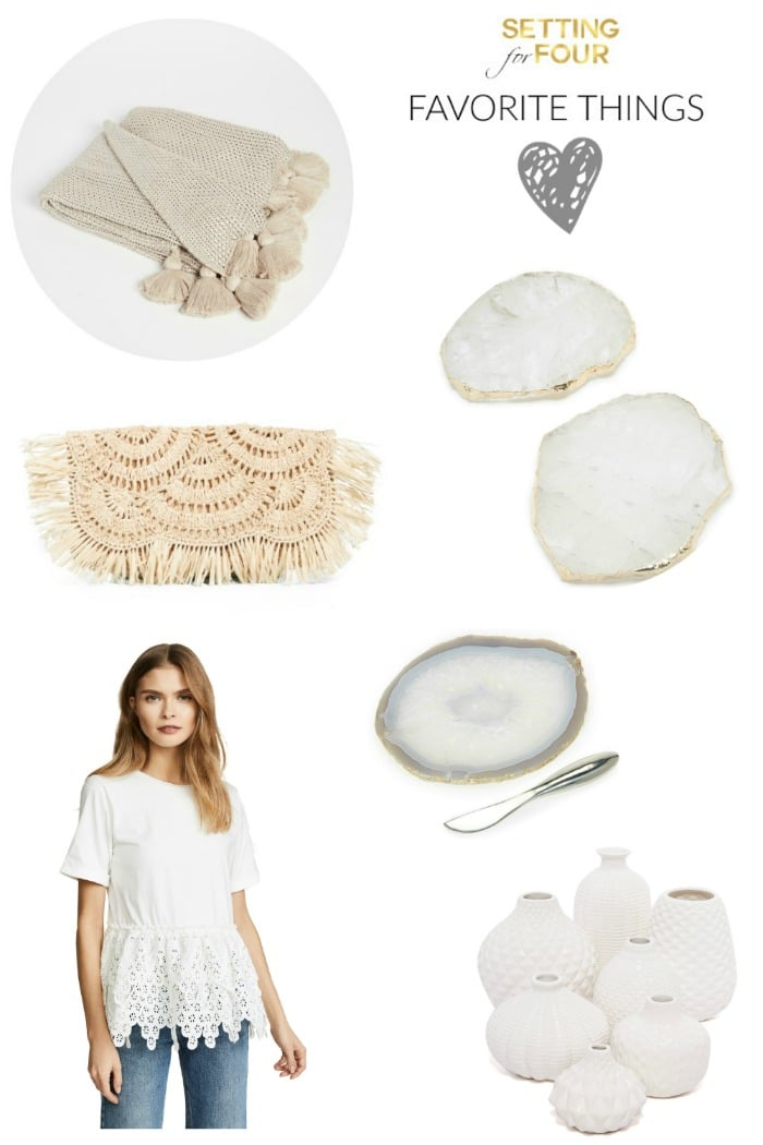 My Favorite Things - Fashion and Home! See these beautiful decor and fashion items that I discovered this week! All are currently on sale too! Plus I'm sharing some big weekend sales and promo codes so you can save money while you shop for the things you need or things to gift!
