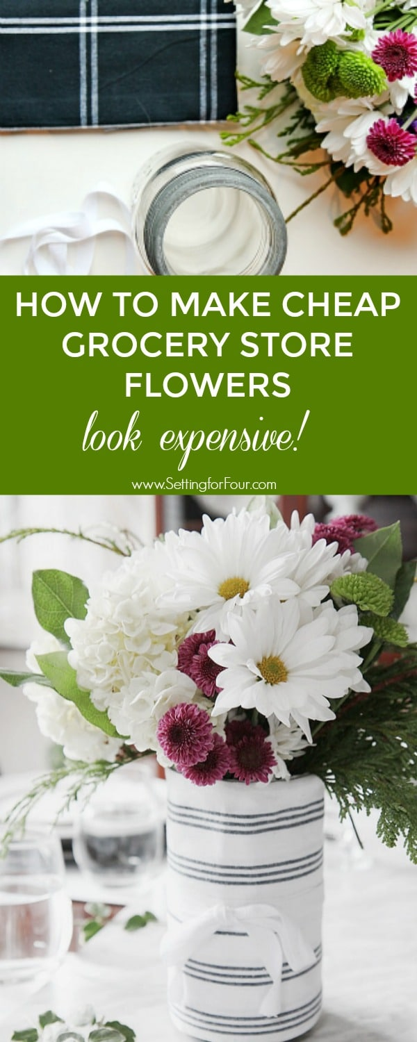 How to make cheap grocery store flowers look expensive setting for how to make cheap grocery store flowers look expensive easy diy tutorial izmirmasajfo