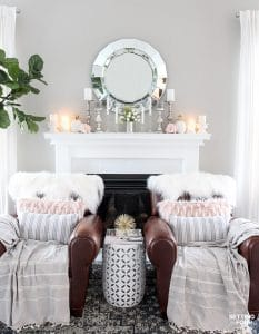 Decorating for Spring doesn't have to be time consuming or expensive! See my easy Spring Mantel Decorating Ideas to add to your mantle! You'll also find 25 Stunning Spring Mantel and Vignette Decorating ideas in this inspirational DIY home decor blog tour.