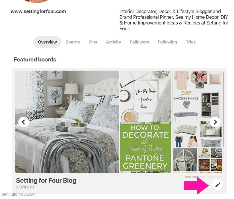 How to customize your NEW Pinterest profile and featured board showcase.