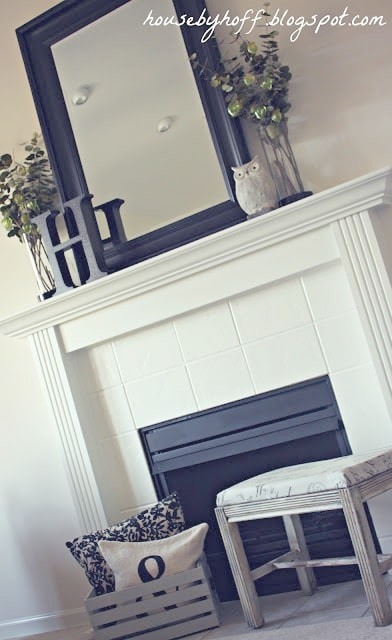 Painting Fireplace Tiles White
