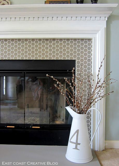 How To Stencil Fireplace Tile With Paint