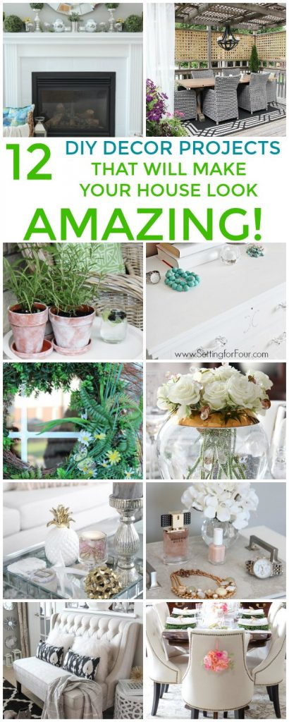 12 DIY Decor Projects that will make your house look AMAZING! #diy #decor #homedecor #decorating