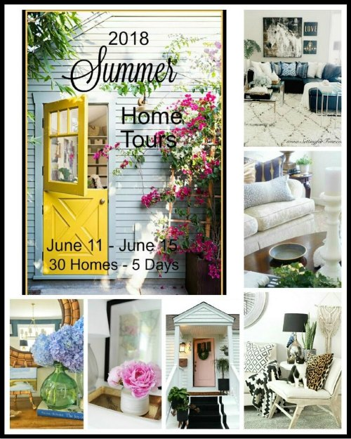 2018 Summer Home Tours of bloggers homes decorated for summer! #decor #decorideas #summer #hometour