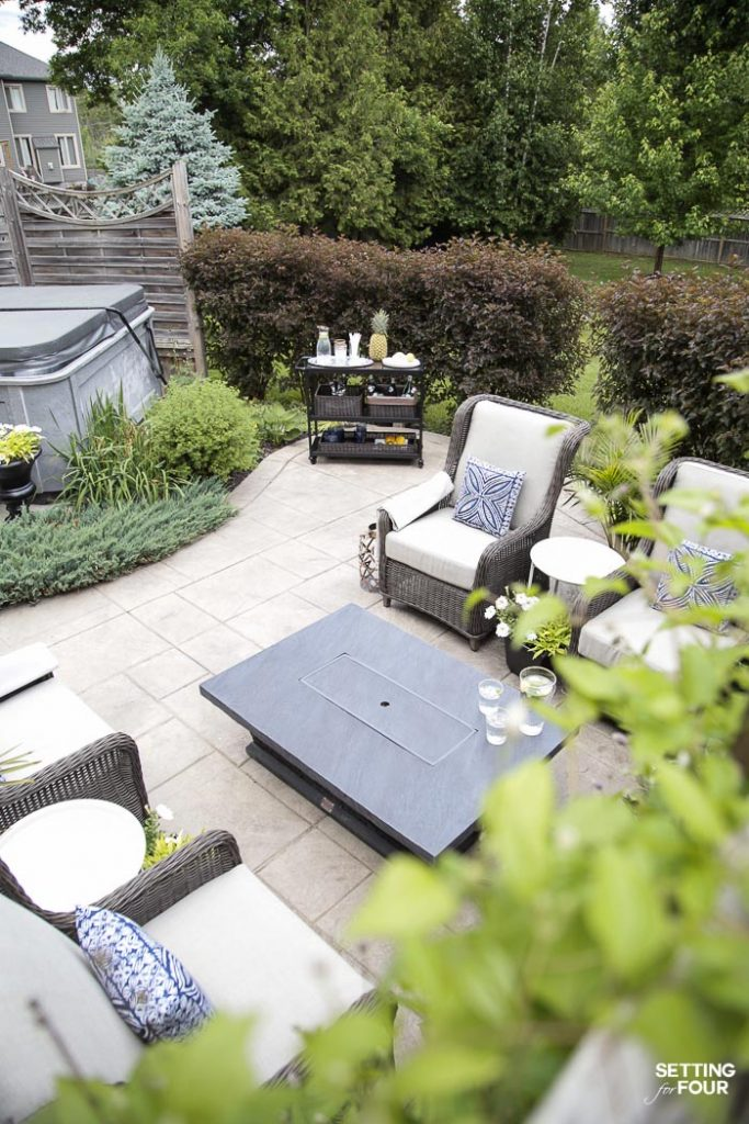 Outdoor Patio Ideas Patio Furniture And Backyard Decor Setting For Four