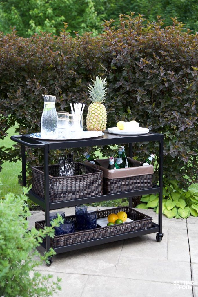 Outdoor Patio Ideas, Patio Furniture and Backyard Decor #outdoor #patio #barcart #backyard #decor #furniture