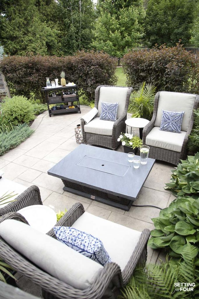 Ideas For Patio Furniture On Outdoor Patio Ideas Furniture And Backyard Decor outdoor patio firetable Setting