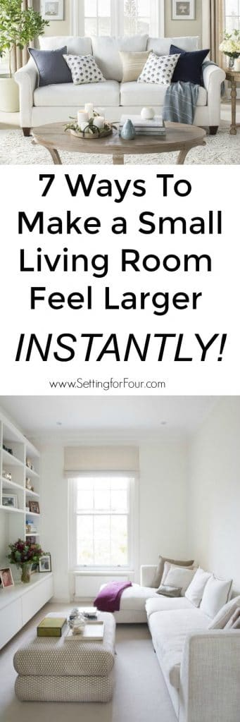 7 Ways To Make A Small Living Room Feel Larger Instantly! #livingroom #decor #decorideas #interiordesign #designtips