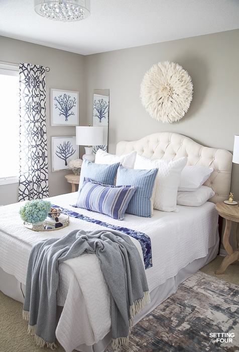 7 Simple Summer Bedroom Decorating Ideas #decor #decoratingideas #decorating  #summer #bedroom