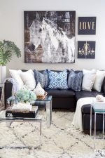 See my home decorating tips and ideas on how you can add a fresh summery look to your spaces including beautiful summer color, decor accents, greenery, textiles and textures! #summer #hometour #familyroom #decor #entryway #familyroom #decoratingideas