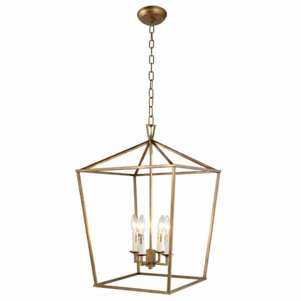 Amazon has all the current lighitng styles from trendy to timeless like this stunning Darlana lantern pendant (comes in aged iron and gold) perfect for kitchen islands and entryways!