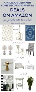Gorgeous Designer Home Decor and Furniture DEALS on Amazon that you probably didn't know about! #amazon #homedecor #furniture #lighting #rugs