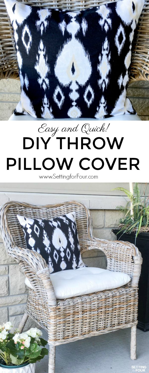 Fabric for Easy DIY Throw Pillow Cover. #diy #tutorial #pillow #decor #decorideas #fabric #sewing