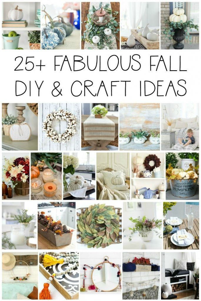 25 NEW and FABULOUS Fall DIY and Craft Ideas! Quick and Easy ways to decorate your home for Fall! #diy #decor #diydecor #fall #craft #tutorial