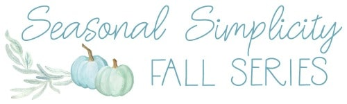 Seasonal Simplicity Fall DIY, craft, recipe and decor blog hop series! #decor #diy #craft #recipes #fall #blogger