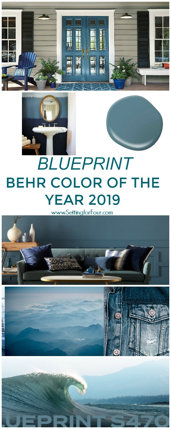 Blueprint Paint Color By Behr - Color Of The Year 2019 #blueprint #color #paint #trends #wallcolor #decor #design #homeimprovement