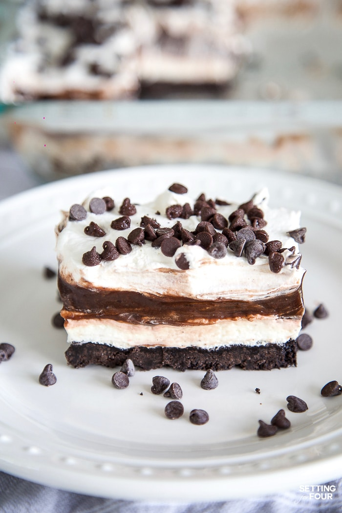 Easy Chocolate Lasagna – No Bake Dessert