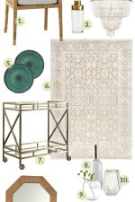 Thinking of making over your dining room or giving it a little refresh? See these 13 Must Have Finds for a Dining Room Refresh! Gorgeous furniture, rug, lighting, mirror, accessory and pillow ideas in a white, gold and green color scheme!