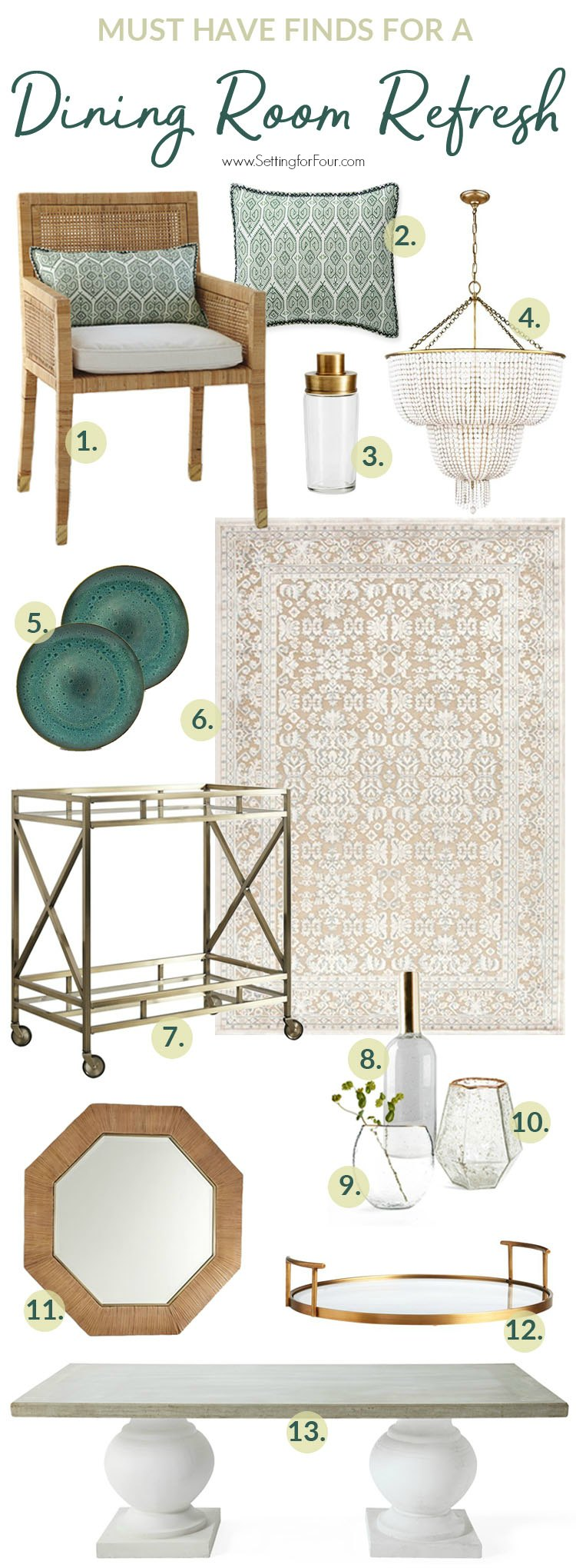 Must Have Finds for a GORGEOUS Dining Room Refresh! #diningroom #decor #design #decorideas #decoratingideas #makeover #furniture