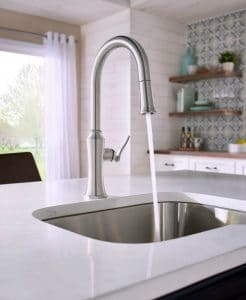 Picking out a faucet can be so overwhelming with all the finishes and styles to choose from! Don't worry - I've got you covered! Learn How To Pick A New Faucet To Meet Your Needs & Your Style and & see these helpful faucet design ideas for inspiration! Plus I'm sharing new gorgeous kitchen and bathroom faucet collections that have been just launched!