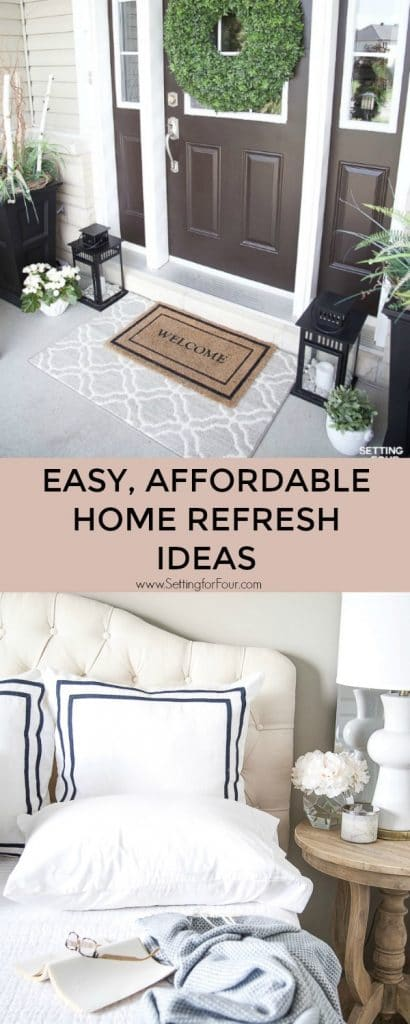 Easy Affordable Home Refresh Ideas & Kohl's White Sale! #ad #KohlsHomeSale #KohlsFinds #bedding #rug #decor #refresh #decorideas