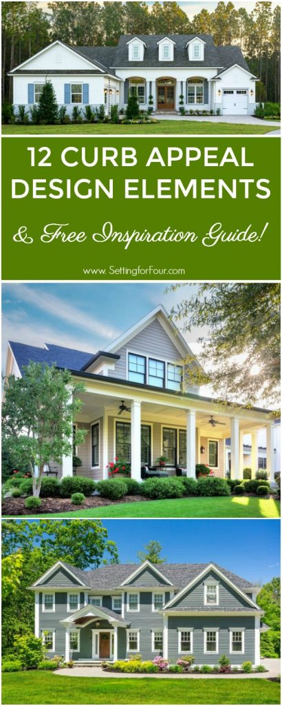 Get your FREE Curb Appeal Inspiration and Siding Guide! Home Improvement and Design Ideas. #free #design #guide #curbappeal #siding #homeimprovement #decor #houseexteriors #housecolorschemes #JamesHardieInspired