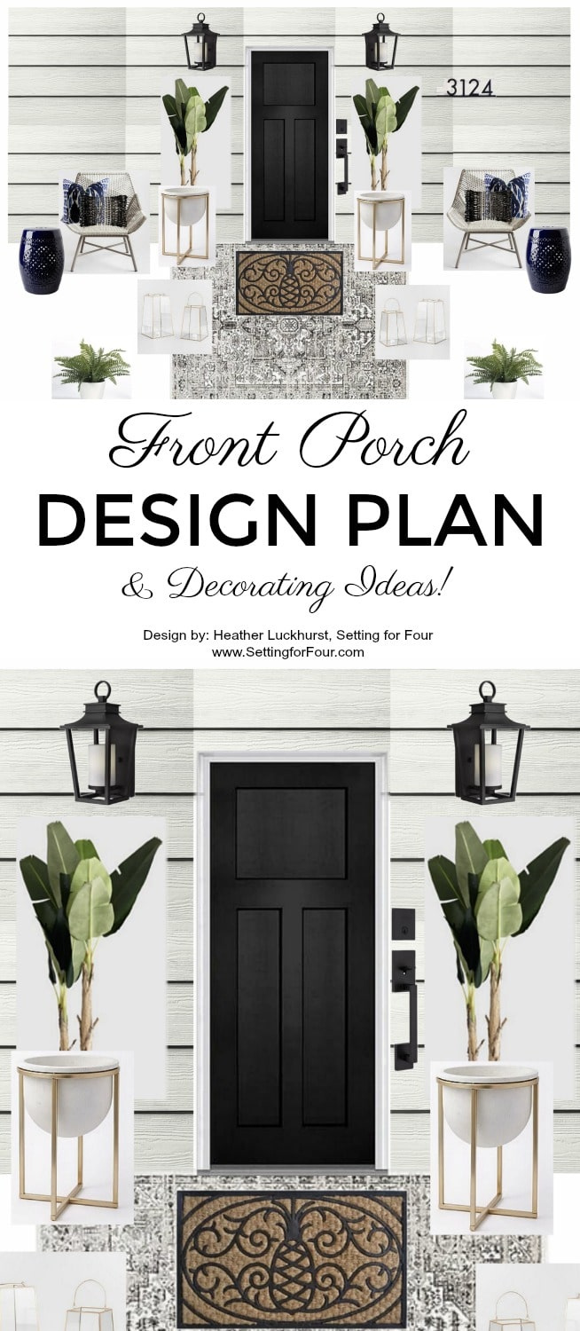 Front Porch Design Plan and Decorating Ideas to Increase your home's curb appeal!