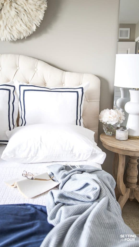 Easy affordable bedding refresh ideas. #ad #KohlsHomeSale #KohlsFinds #bedding #rug #decor #refresh #decorideas