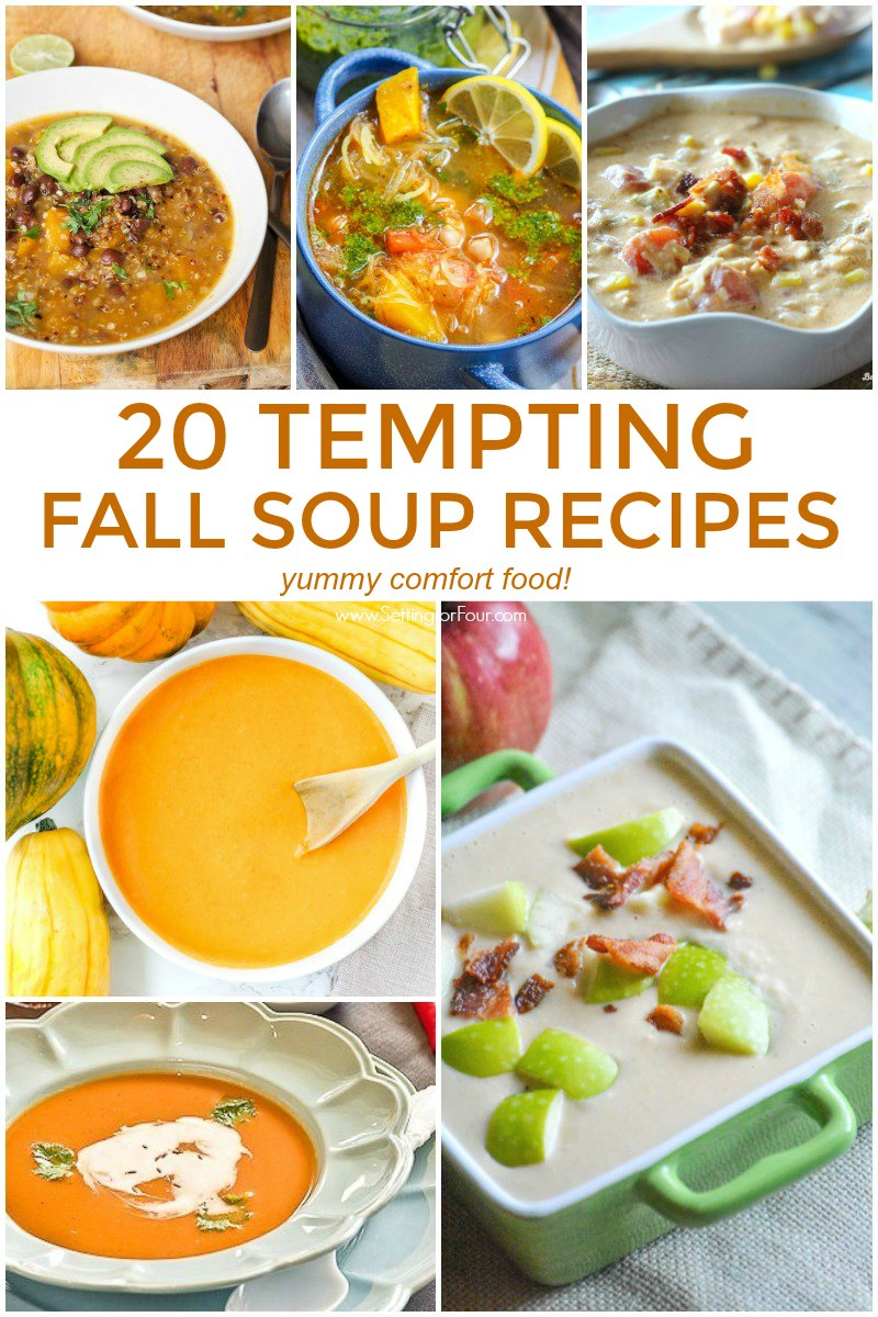 Make these 20 Tempting Fall Soup Recipes For Lunch & Dinner!