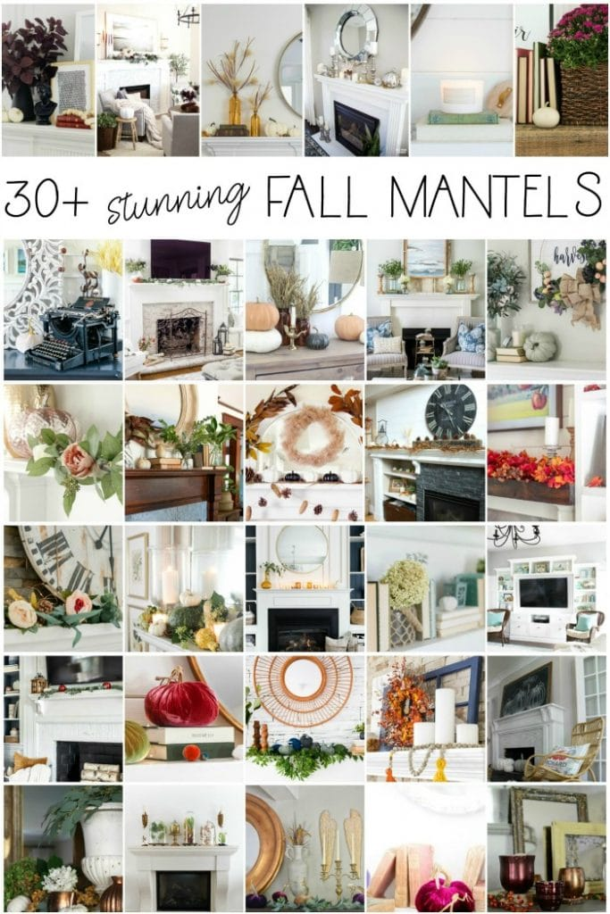 30 plus stunning Fall Mantel Decor Ideas for your Home! #home #fireplace #mantel #fall #decor #decorideas #design #autumn #livingroom