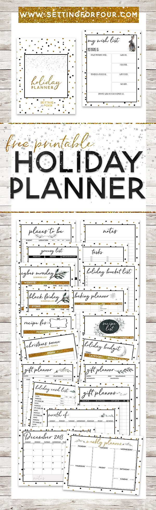 FREE Printable Holiday Planner – 27 Pages to Organize and Plan ...