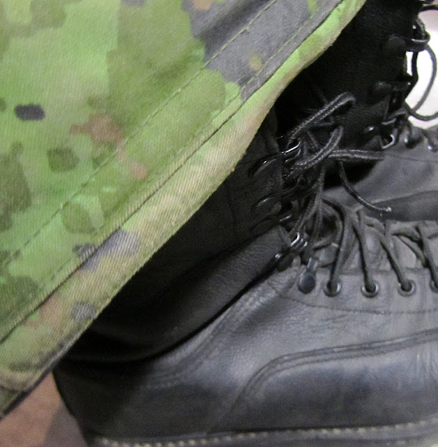 I'm a proud military wife! Army boots and uniform.