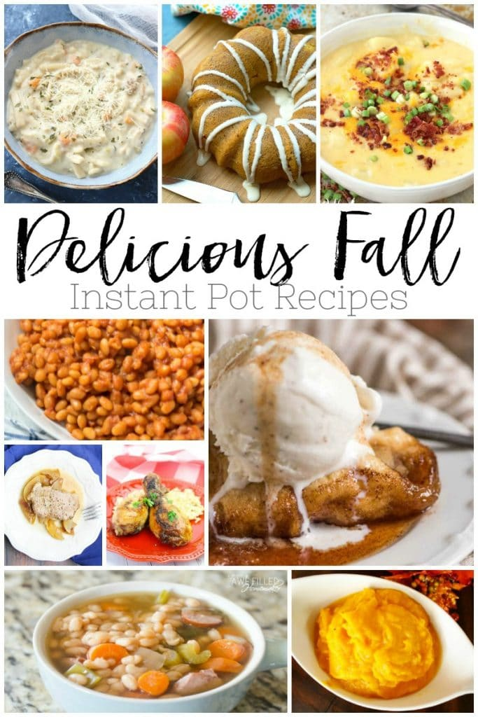 20 Delicious Fall Instant Pot Recipes That Are Quick To Prepare! #instantpot #food #recipes #fall #soup #stew #dessert #meal #meat