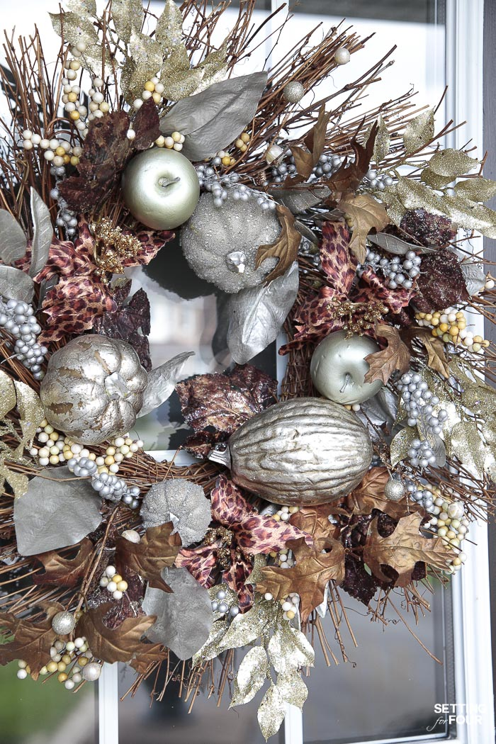 Simple Fall Porch Decorating Ideas With Big Impact! #wreath #simple #fall #porch #decor #pumpkins #leaves #mums