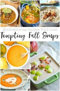 See these Tempting Fall Soup Recipes - Mouthwatering Recipes You'll Love! These soup ideas are filled with delicious fall vegetables and flavors!  #fall #soup #recipes #food #lunch #dinner #crockpot #instantpot #slowcooker