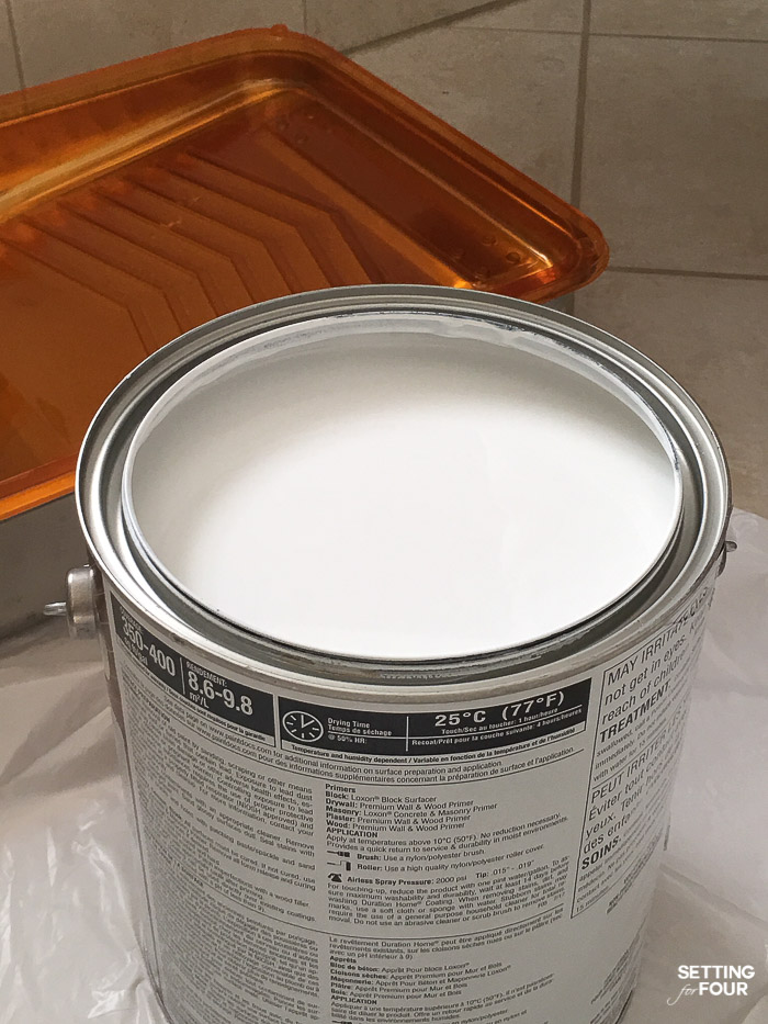Sherwin Williams Pure White 7005 paint color. We used this in our bedroom. See the makeover. #diy #decor #makeover #bedroom #white #paint #color #sherwinwilliams
