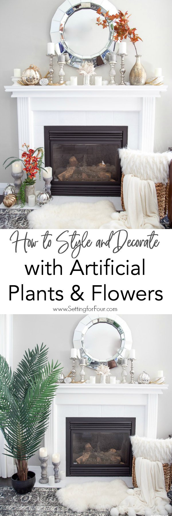 How to Style & Decorate With Artificial Flowers & Plants ...