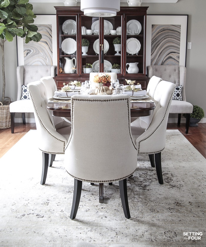 Beautiful dining room furniture, DIY art and decor ideas. #diy #art #furniture #diningroom #placesetting #tabletop #decorating