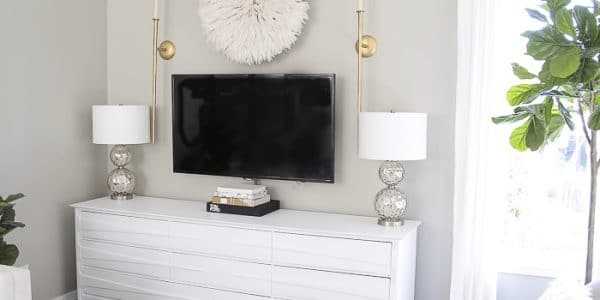 Turn a Dresser into a TV unit and TV wall Decor ideas!