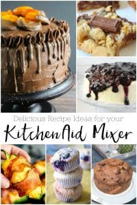20 Delicious KitchenAid Mixer Recipes - scrumptious recipes for this popular kitchen appliance! #kitchenaid #mixer #appliance #kitchen #food #recipes #desserts #meals #dinner #dough #pie #bread