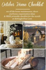 October Home Checklist – Home Improvement & Fall Home Ideas