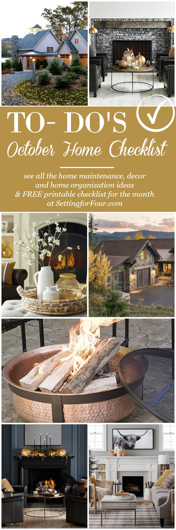 FREE October Home Checklist - Home Improvement & Fall Home Ideas #fall #home #checklist #maintenance #renovations #decor