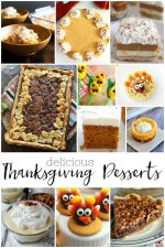 20 Delicious Thanksgiving Desserts For A Crowd, For Two and Kids! Sweet recipes that are the perfect ending to Thanksgiving dinner! #thanksgiving #desserts #pie #cheesecake #fall #autumn #food #recipes #crowd #kids