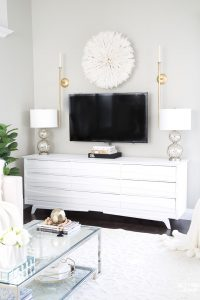 TV Wall Decor Idea – Decorate With A Juju Hat!