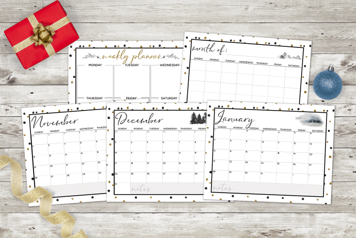 Stay sane with this fantastic Printable Holiday Planner – 27 pages to Organize and Plan Christmas holidays!
