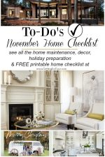 November Home Checklist – Home Improvement & Home Decor Ideas