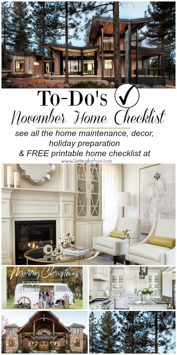 November Home Checklist – Home Improvement & Home Decor ...